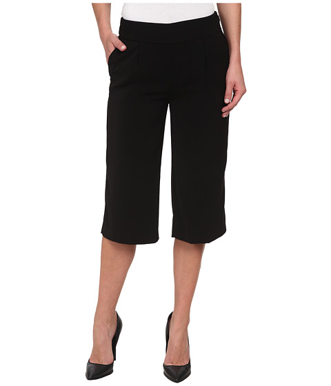 Imbracaminte Femei DKNY Tech Crepe and Washed Wide Leg Crop Tech Crerepants Black