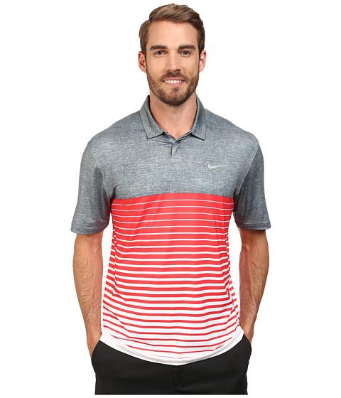 Imbracaminte Barbati Nike Bold Stripe Polo Classic CharcoalDaring RedWolf Grey