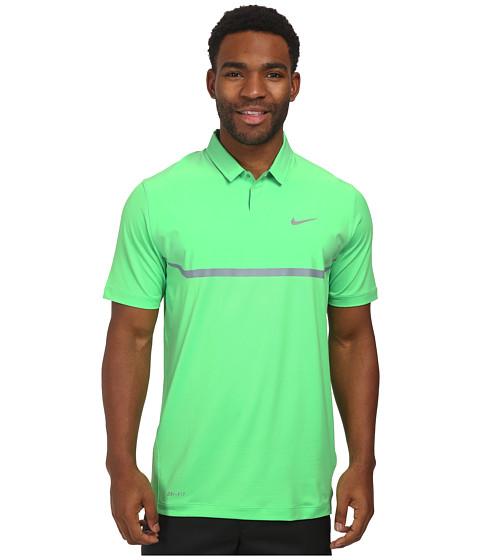 Imbracaminte Barbati Nike Elite Cool Carbon Polo Poison GreenDove GreyWolf Grey