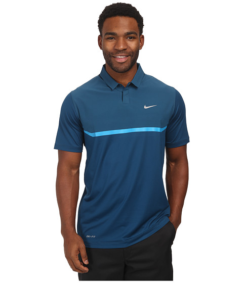 Imbracaminte Barbati Nike Elite Cool Carbon Polo Blue ForceLight Blue LacquerWolf Grey
