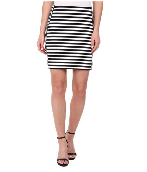 Imbracaminte Femei Michael Kors Stripe Ponte Zip Skirt Black