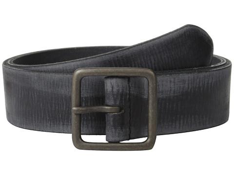 Accesorii Barbati John Varvatos 40mm Burnished Leather w Center Bar Buckle Black