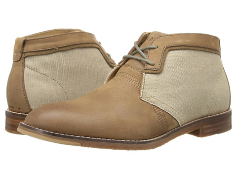 Incaltaminte Barbati Hush Puppies Devon Hamlin Taupe LeatherCanvas