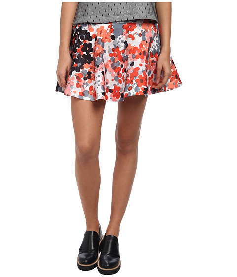 Imbracaminte Femei Red Valentino Abstract Flower Print Skirt Orange