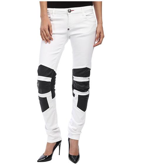 Imbracaminte Femei Philipp Plein Boao Super Slim Fit Jeans Snow White