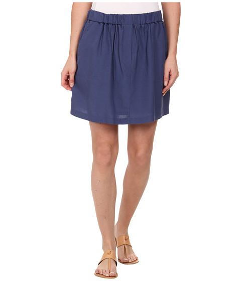 Imbracaminte Femei Lacoste Elastic Waistband Linen A-Line Skirt Philippines Blue