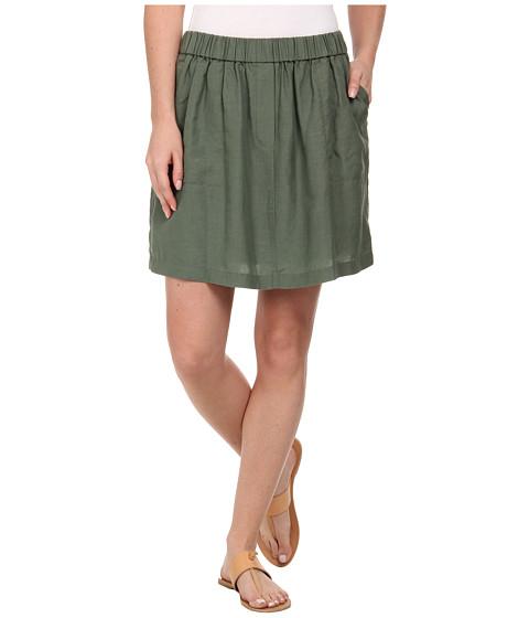 Imbracaminte Femei Lacoste Elastic Waistband Linen A-Line Skirt Silex Green