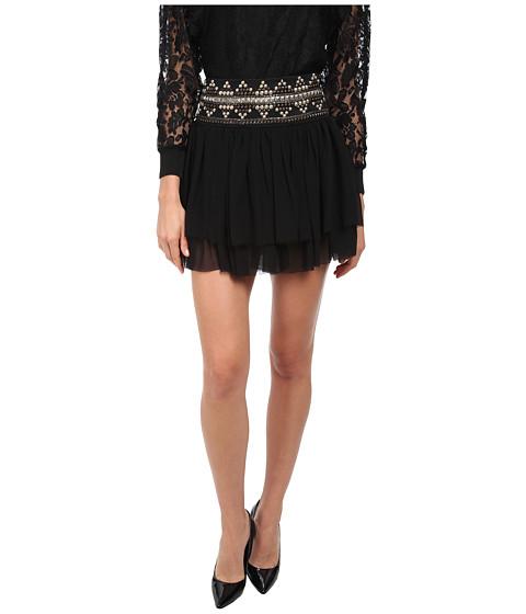 Imbracaminte Femei Pierre Balmain Layered Skirt with Studded Waistband Black