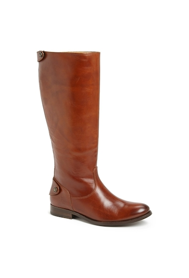 Incaltaminte Femei Frye Melissa Button Back Zip Tall Boot COGNAC