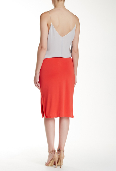 Imbracaminte Femei Max Studio Knee Slit Pencil Skirt PERSIMON