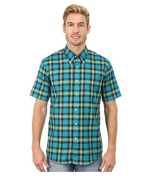 Imbracaminte Barbati Pendleton Short Sleeve Seaside Button Down Shirt Bright GreenTurquoiseNavy Plaid