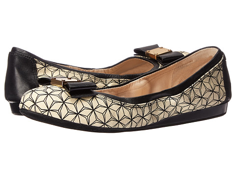 Incaltaminte Femei Cole Haan Tali Bow Ballet IvoryBlack Prism Print