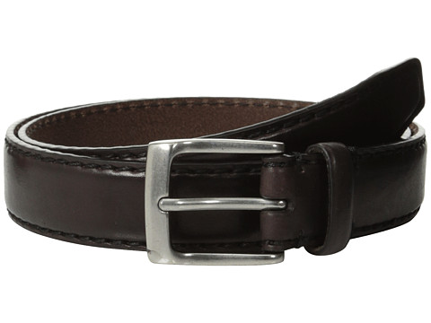 Accesorii Barbati John Varvatos 30mm Bombay Edge Stitch Brush Off Veg Buckle Chocolate