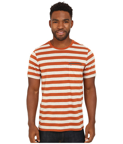 Imbracaminte Barbati Hurley Dri-FIT Captain Crew T-Shirt Dark Russet