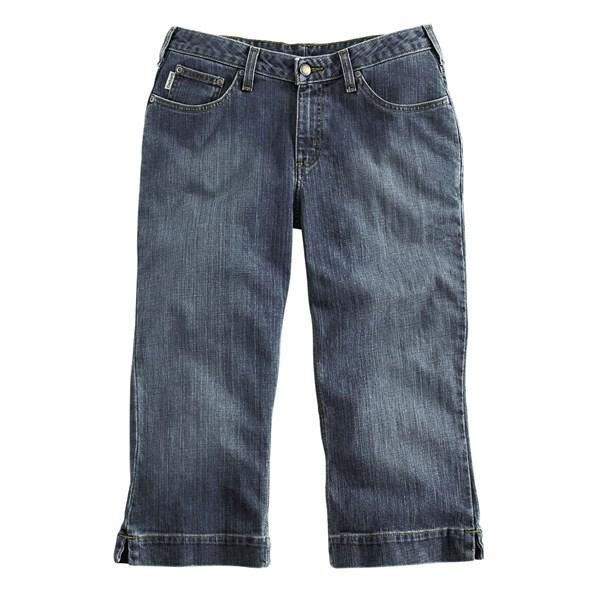 Imbracaminte Femei Carhartt Original Fit Cropped Denim Jeans FADED INDIGO (01)