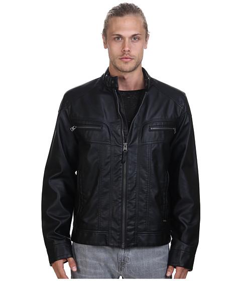 Imbracaminte Barbati Calvin Klein Faux Leather Moto Jacket Black
