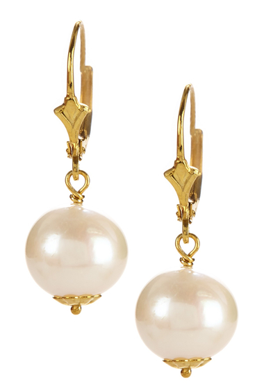Bijuterii Femei Savvy Cie 14K Yellow Gold Plated Sterling Silver 10-11mm Cultured Pearl Drop Earrings No Color