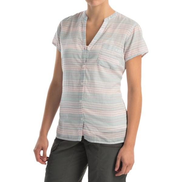 Imbracaminte Femei Columbia Sun Drifter Shirt - Short Sleeve STONE BLUE STRIPE (09)