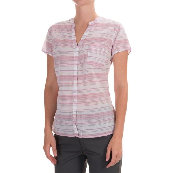 Imbracaminte Femei Columbia Sun Drifter Shirt - Short Sleeve HAUTE PINK STRIPE (08)