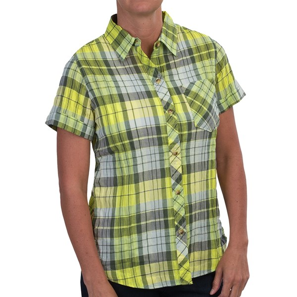 Imbracaminte Femei Woolrich Spring Fever Shirt - Short Sleeve LEMONGRASS (02)