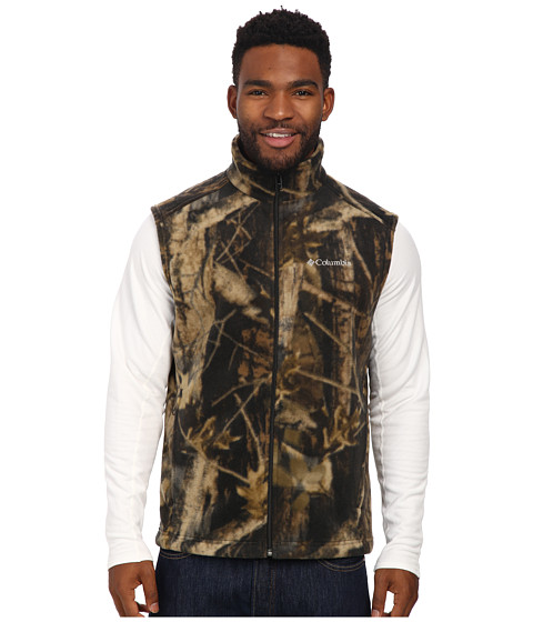 Imbracaminte Barbati Columbia Steens Mountaintrade Printed Vest Timberwolf Print