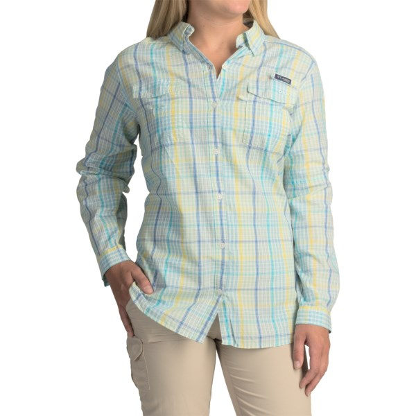 Imbracaminte Femei Columbia Super Bonehead II Shirt - Button Front Long Sleeve (For Plus Size Women) STORMY BLUE PLAID (09)
