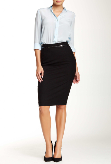 Imbracaminte Femei Amanda Chelsea Signature Belted Pencil Skirt BLACK