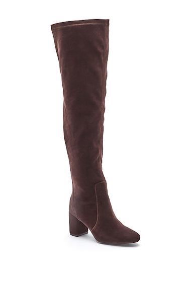 Incaltaminte Femei Matisse Scout Velvet Over-the-Knee Boot CHOCOLATE