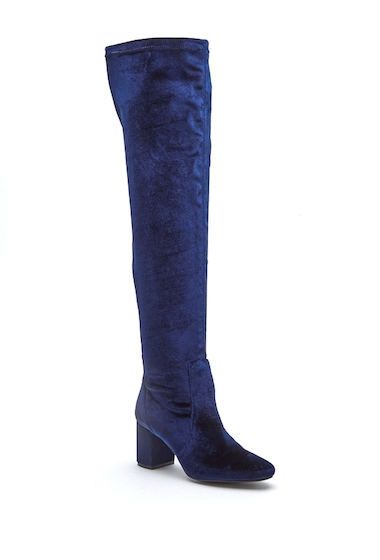 Incaltaminte Femei Matisse Scout Velvet Over-the-Knee Boot MIDNIGHT