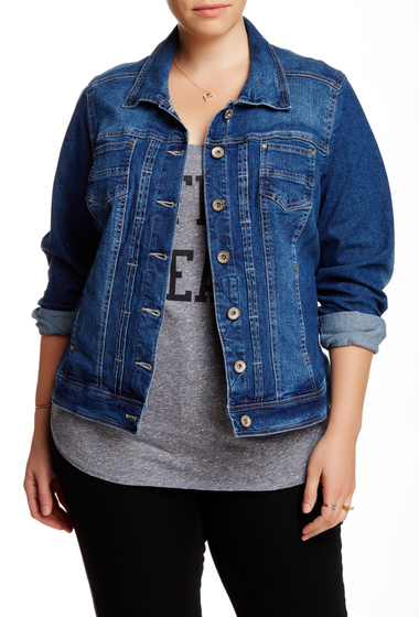 Imbracaminte Femei Live a Little Denim Jacket Plus Size INDIGO