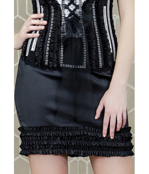 Imbracaminte Femei Lucia Bella Black Sexy Skirt Negru