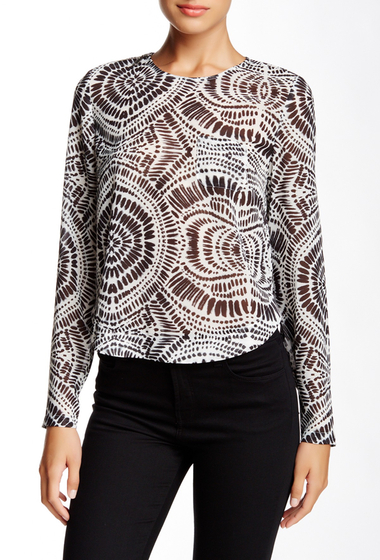Imbracaminte Femei LAMB Printed Long Sleeve Cropped Blouse African Tribal