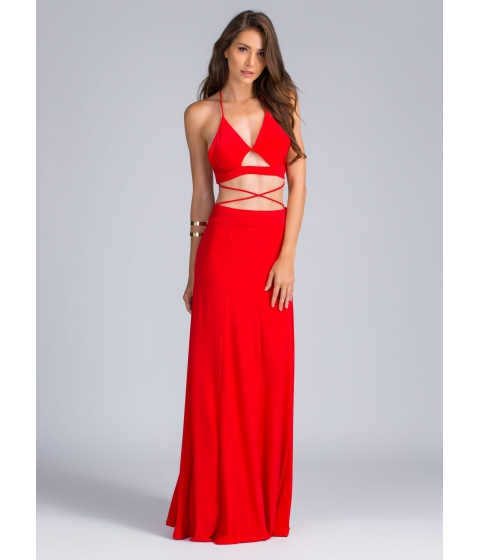 Imbracaminte Femei CheapChic Crisscross You Don't Stop Strappy Maxi Red
