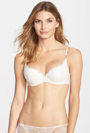 Imbracaminte Femei Wacoal Marquise Underwire Plunge Push-Up Bra CREAM PINK