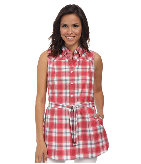 Imbracaminte Femei Pendleton Belted Sleeveless Shirt Cherry Pink Plaid