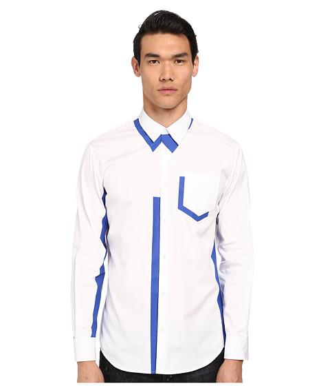 Imbracaminte Barbati DSQUARED2 Shadow Relaxed Dan Shirt WhiteBluette