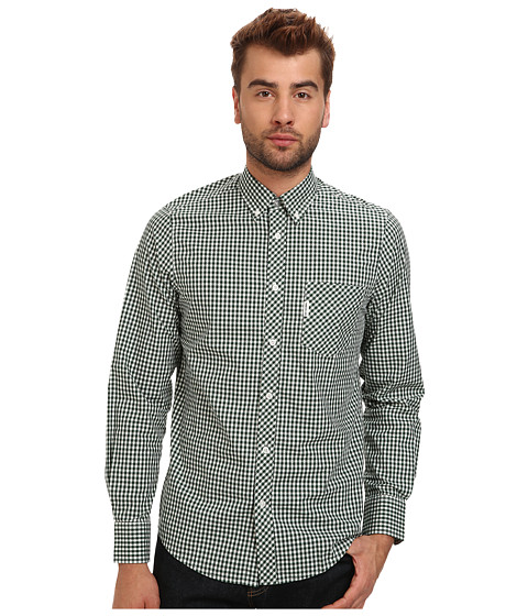 Imbracaminte Barbati Ben Sherman Gingham Mod Long Sleeve Forest Night