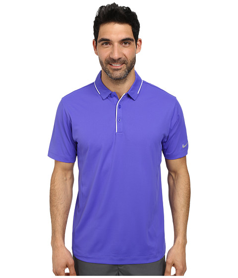 Imbracaminte Barbati Nike Tech Tipped Polo Persian VioletWhiteWolf Grey