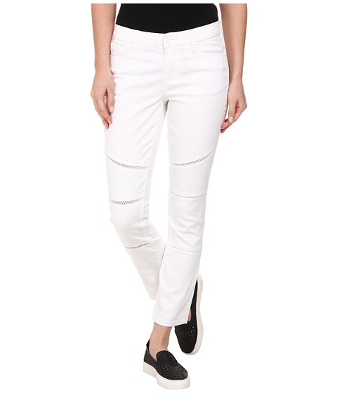 Imbracaminte Femei DKNY Ladder Lace Ave B Ultra Skinny Crop Moto in White White