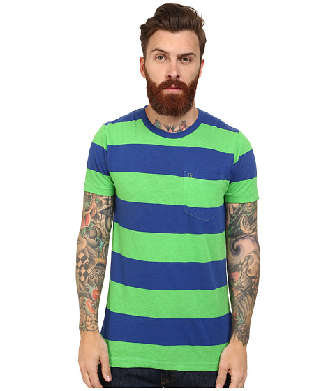 Imbracaminte Barbati French Connection Colorful Block Slub Tee Techno GreenMazarine Blue