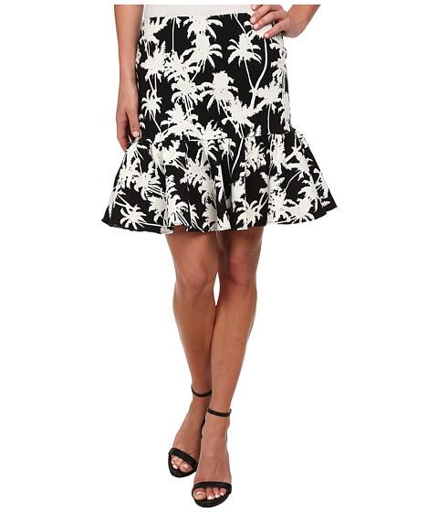 Imbracaminte Femei Nicole Miller Palm Medley Ruffle Bottom Skirt BlackWhite