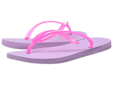 Incaltaminte Femei Havaianas Slim Logo Pop-Up Flip Flops Soft Lilac