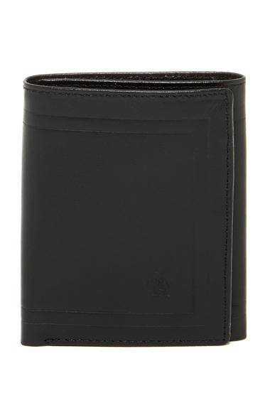 Accesorii Barbati Original Penguin Frame Leather Trifold Wallet BLACK