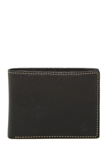 Accesorii Barbati Original Penguin Pebble Leather Bifold Wallet BLACK