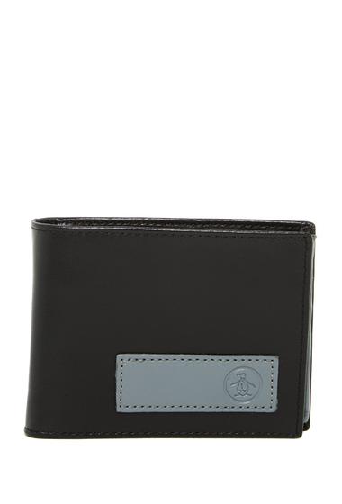 Accesorii Barbati Original Penguin Logo Patch Leather Bifold Wallet GREY