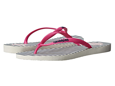 Incaltaminte Femei Havaianas Slim Retro Flip Flops WhiteRose