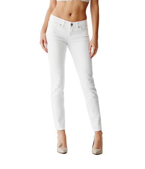 Imbracaminte Femei GUESS Cindy Power Skinny Jeans true white