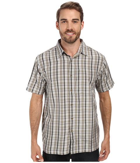 Imbracaminte Barbati The North Face Short Sleeve Paramount Plaid Shirt High Rise Grey