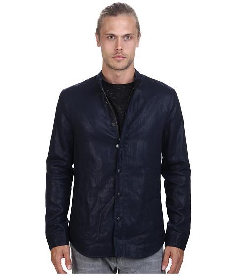 Imbracaminte Barbati John Varvatos Shirt Jacket with Zip Detail Throughout Lake