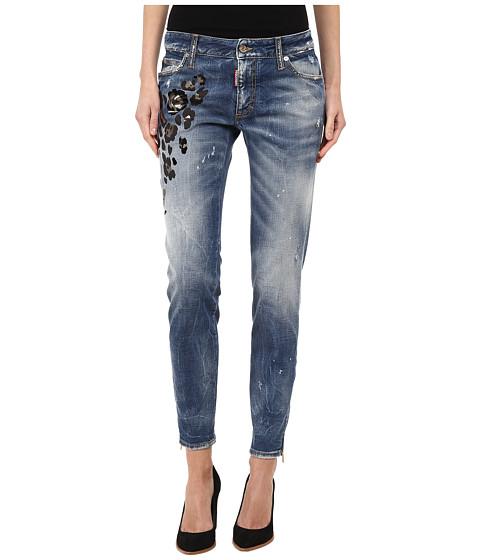 Imbracaminte Femei DSQUARED2 Medium Waist Super Slim Jean Blue